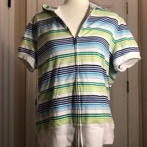 St. John's Bay Short Sleeve Hoodie - XL